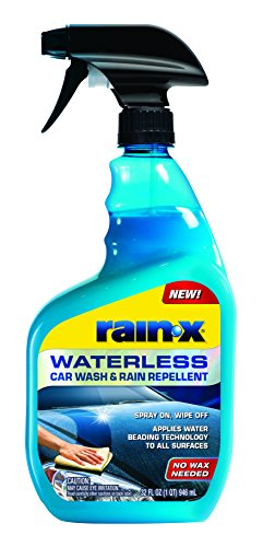 Car Wax Spray Fast (Rain-X 620100 Waterless Car Wash and Rain Repellent, 32 fl. oz, 1 Pack)