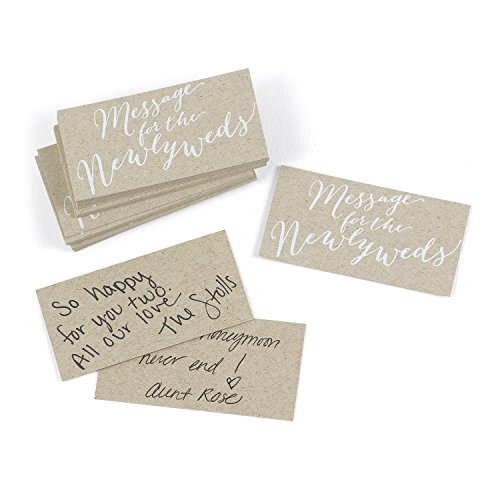 Hortense B. Hewitt Wedding Accessories 25-Count Krafty Message for The Newlyweds Cards]()