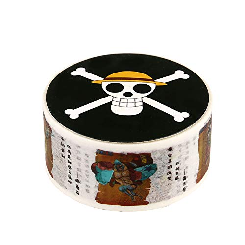 (Bowinr Japanese Anime Decorative Masking Tape for Scrapbooking, DIY Crafts, Gift Wrapping, Holiday Decoration, Best Gift for Anime-Fans(Portrait of Pirates))