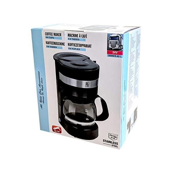 41e%2BYv8pdfL Kaffeemaschine 24V, 300W, 0.65L, Glaskanne, 6 Tassen, Anschluss Zigarettenanzünder - Reisekaffeemaschine für Lkw, Boot…