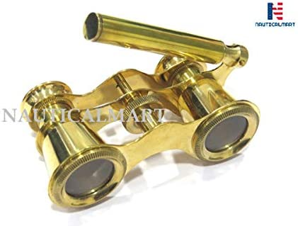 Brass Opera Binocular with Handle – Theater Glasses Gift for Adults Women Kids by NauticalMart