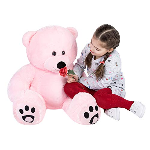 YXCSELL 3ft Giant Teddy Bear- Pink Cuddly Super Soft Huge Plush Stuffed Animal Toys Giant Teddy Bear Toy Doll 36 Inches for Valentines Birthday Gift