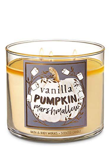 Bath & Body Works Vanilla Pumpkin Marshmallow Candle 14.5 Oz 3 Wick New for 2015