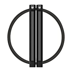 High strength PC-ABS poly blend construction. Patented dual axis rotation, allowing your handles to stay on the end of the rope while eliminating torque build up in the cable. Oil infused bushing anti-friction system for a smooth spin while m...
