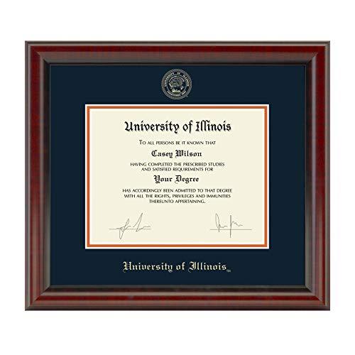 Illinois University Diploma Frame - M. LA HART University of Illinois Diploma Frame, The Fidelitas