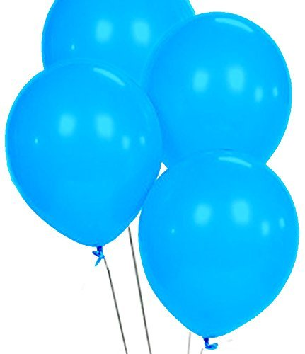 Custom, Fun & Cool {Big Large Size 12'' Inch} 1500 Bulk Pack of Helium & Air Latex Rubber Balloons w/ Modern Simple Celebration Party Special Event Decor Design [In Bright Sky Blue] by mySimple Products