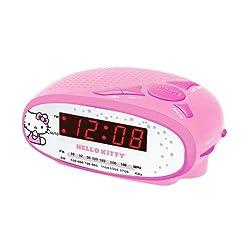 Spectra Hello Kitty AM/FM Alarm Clock Radio KT2051B (Pink)