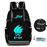 Gumstyle Masked Rider Anime Night Luminous Backpack with USB Charging Port Laptop Shoulder School Bag 1