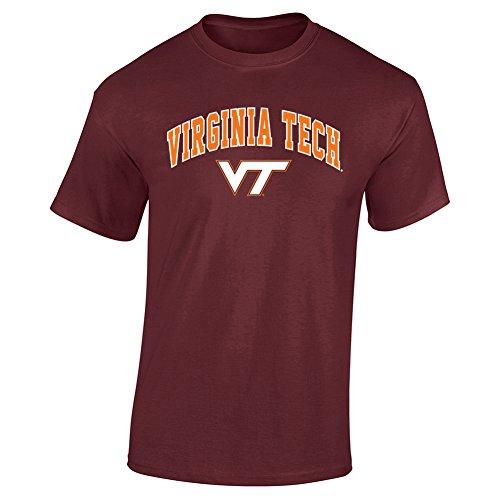 - Elite Fan Shop NCAA Men's Virginia Tech Hokies T Shirt Team Color Arch Virginia Tech Hokies Maroon Large