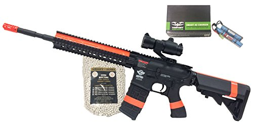 G&G CM-16 R8-L Black Airsoft Alpha Viper Package (NY/CA Compliant) by AirsoftAlpha