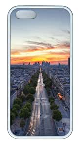 Apple iPhone 5S Cases - Sunset Paris France TPU Case Cover for iPhone 5S and iPhone 5 - White