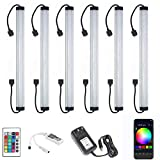 LAIFUNI Under Cabinet LED Lighting - Dimmable Under Counter Lights, WiFi Smart Controlled,RGB,12 Inch, Multicolor Lamps with Remote Control and Compatible with Alexa (6 Pack)
