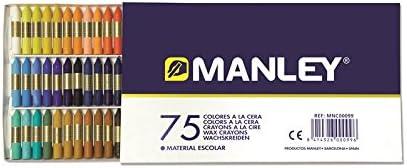 Manley MNC00099 - Ceras, 75 unidades: Amazon.es: Oficina y papelería