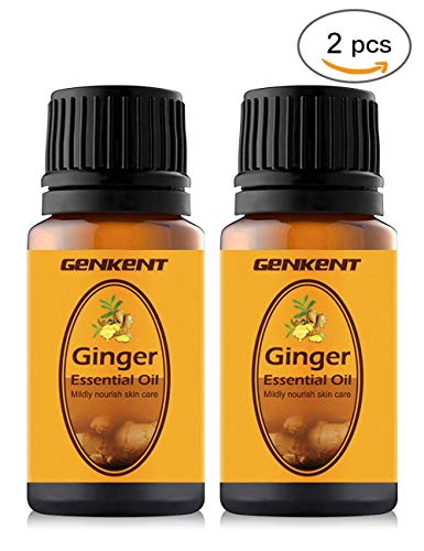(Ginger Oil, Turmeric Curcumin with Ginger & Bioperine - Best Vegan Joint Pain Relief, Anti-Inflammatory, Antioxidant & Anti-Aging Supplement,Better Absorption. 100% Natural Non-GMO by GENKENT(2 PACK))