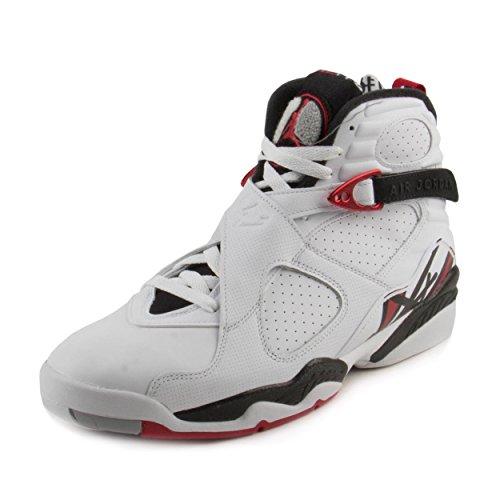 94777271f83 Nike Jordan Mens Air Jordan 8 Retro WhiteGym Red Black Wolf Grey Basketball Shoe  11.5 Men ...