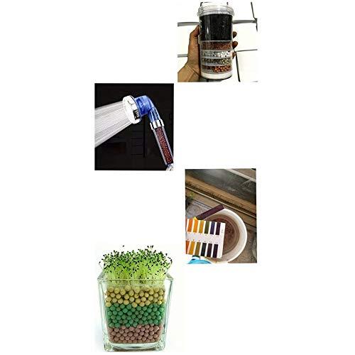Sustituci/ón de las bolsas de ducha granos principales de energ/ía filtro de ba/ño de purificaci/ón de agua bolas de energ/ía port/átiles Herramientas de ahorro de agua 5-6mm
