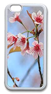 ICORER Customized iPhone 6 Case, Wild Himalayan Cherry TPU Case Cover for Apple iPhone 6 - White