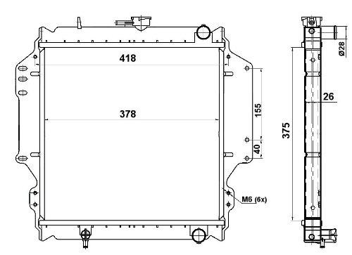 NRF 513161 Radiateur refroidissement du moteur
