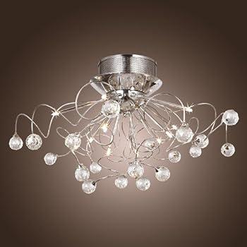 Lightinthebox modern crystal chandelier with 11 lights chrom flush lightinthebox modern crystal chandelier with 11 lights chrom flush mount chandeliers modern ceiling light fixture aloadofball Choice Image