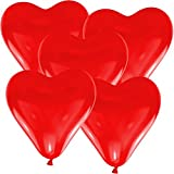 50globos Corazón 30cm Diámetro Rojo