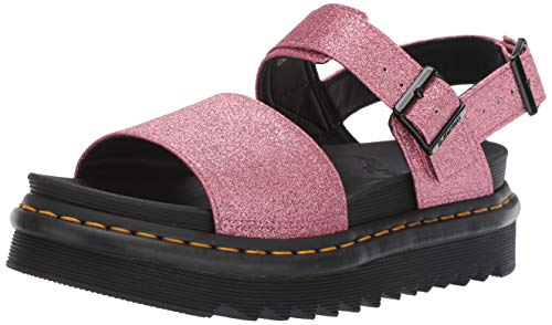 Dr. Martens Women's Voss GLTR Sandal, Pink, 6 Regular UK (8 US)