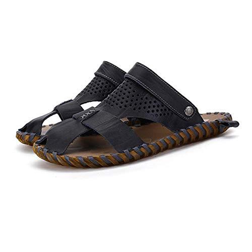 Ocasionales La Black LYZGF De Los De Zapatillas La De Verano Respirables De Moda Hombres Playa Sandalias Juventud De wZTZqE