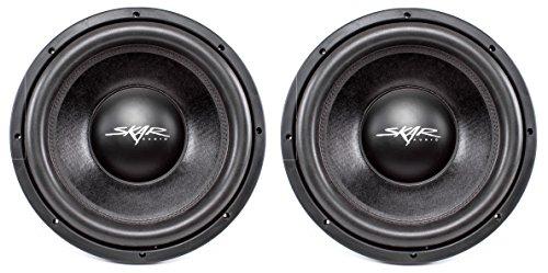 (2) Skar Audio DDX-12 D2 12″ 1500W Max Power Dual 2 Car Subwoofer