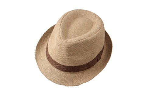 MOMOCHAO Kids Children Boys Girls Top Fedora Cotton Hat Sun Cap Jazz Dance]()