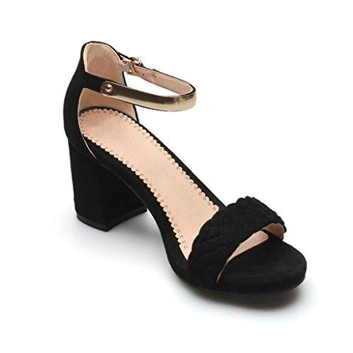 Sandals CJC High-Heeled Open Toe High Heels Thin High Heels Fashion Sexy Elegant PnNvn