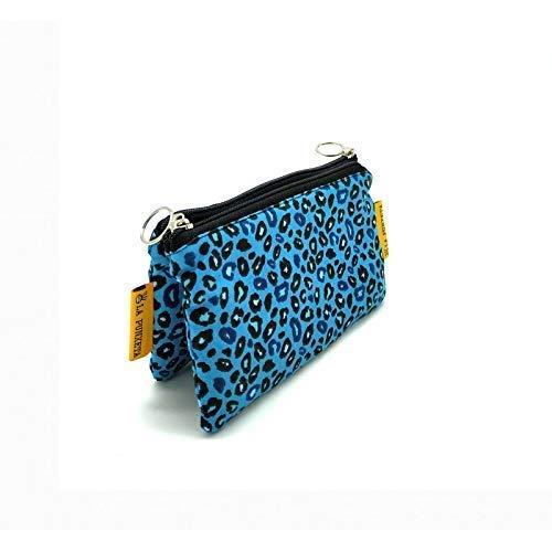 Monedero de tela Leopardo Azul, Monedero Animal Print, Monedero ...