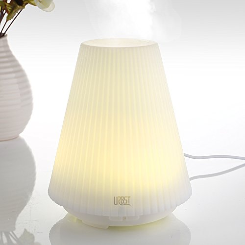 URBST Ultrasonic essential oil aroma diffuser with Time Setting,Cool Air Humidifier,Waterless Auto Shut-off,7 Color Changing LED Lamps for Home, Office, Bedroom Room, Beauty Salon, Hospital and more by URBST
