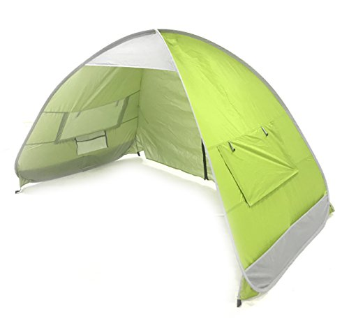 SolarWave Outdoor Easy-up Pop-up Beach Sun Tent. Pure ENJOYMENT: Relax, Recharge, Regroup! Reduces UVA and UVB Rays by 99.8%, Your New QUALITY Shade | Shelter is GREAT for the Park and Soccer Game.