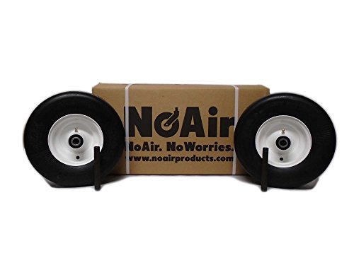 NoAir (2) Exmark Flat Free Wheel Assemblies Fits Lazer Z 13x5.00-6 Part 1-633582 from NoAir