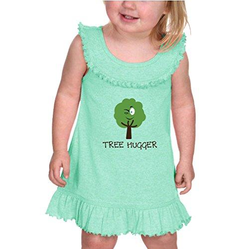 Cute Rascals Tree Hugger Style 1 Infants Girls Ruffle Collar Tank Dress Ice Green 12 (Tree Hugger Tank)