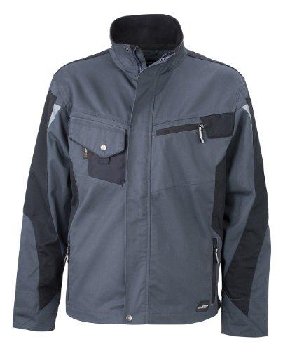 James & Nicholson, Messieurs, Workwear Jacket Cordura carbone