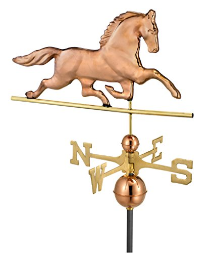 Horse Directions Patchen Good - Good Directions 623P Large Patchen Horse Weathervane, Polished Copper