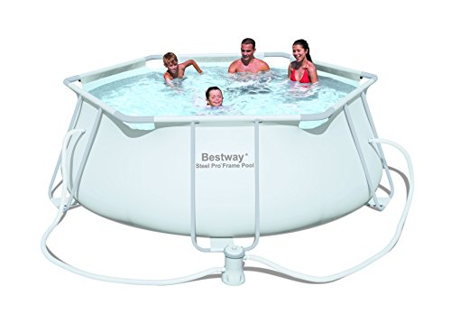 Bestway-56245-Frame-Pool-Stahlrahmenbecken-330-x-102-cm-Steel-Pro-mit-Filterpumpe-NL-hellgrau