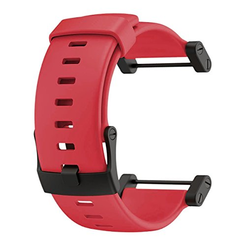 Suunto Core Accessory Strap Red One Size Rubber Band Black Buckle Adapter