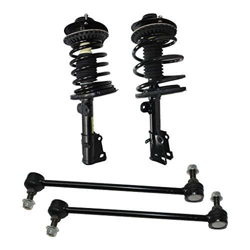 (Detroit Axle - New 4pc Kit - Both (2) Complete Front Quick Strut Assembly, Both (2) Front Sway Bar End Links for For - 2001-07 Chrysler Town & Country - [2001-03 Voyager] - 2001-07 Grand/Caravan)