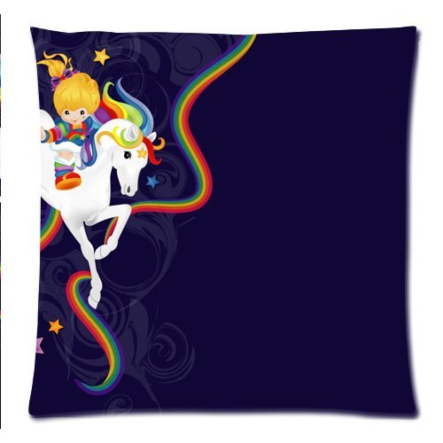 Jay.L.E Rainbow Brite and Starlite Pillowcases Custom Pillow Case Cushion Cover 18 X 18 Inch Two Sides (Protection Bed Brite)