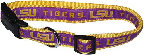 Pets First Collegiate LSU Tigers Pet Collar, Medium