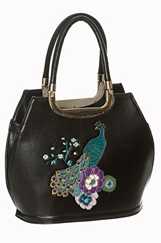 Banned Mayuree retro borsa Vintage - Nero o Blu Notte - Black / One Size