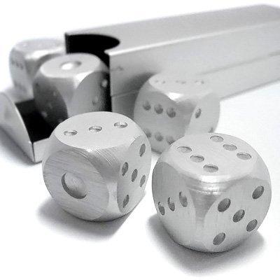 Dice Gift - MEKBOK Aluminum Dice 5 in 1 Set Travel Case Deluxe Gift Souvenir