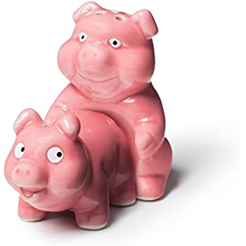 BigMouth Inc Naughty Pigs Salt and Pepper Shaker Set
