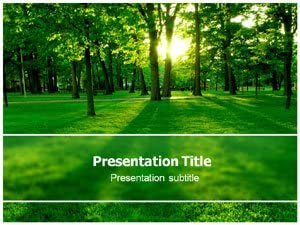 Amazon Com Sun Green Tree Ppt Powerpoint Template