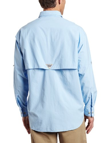 Columbia Men's Bahama II Long Sleeve Shirt, Sail, Large