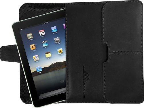 Targus Hughes Leather Portfolio for Apple iPad, iPad 2, iPad 3 and iPad 4th Generation, Black (TES010US)