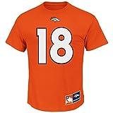 Peyton Manning Denver Broncos Eligible Receiver II Orange Name and Number T-shirt Medium