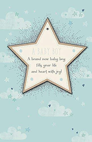 Amazon Com New Baby Boy Birth Congrats Lucky Parents Congratulations Card Kitchen Dining