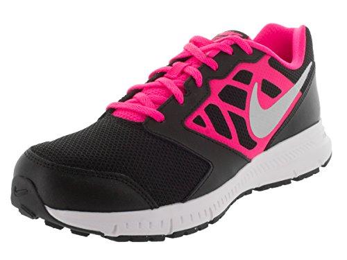 Nike Downshifter 6 (GS/PS) - Zapatillas para niña Blk/Mtllc Slvr/Hypr Pnk/White